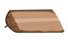 咖色木头装饰插画