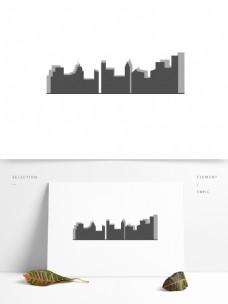 矢量城市剪影装饰元素