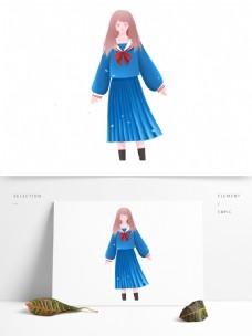 清新唯美日系穿着校服的女孩
