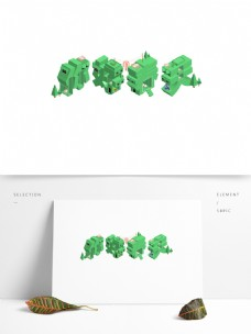 你好春天原创字体设计立体矢量设计元素图标
