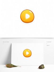 黄色不规则开始游戏按钮