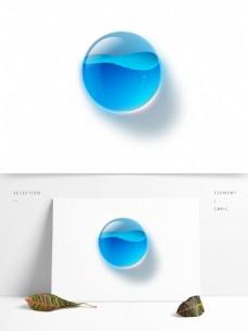 蓝色半透明水泡圆形按钮