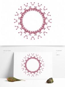 简约时尚浪漫粉色装饰框