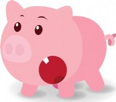 卡通可爱猪
