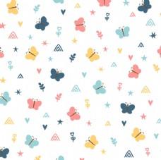 可爱小蝴蝶平铺图