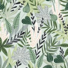 植物涂鸦平铺图