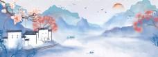 中国风古色风景旅游景点打卡banner图
