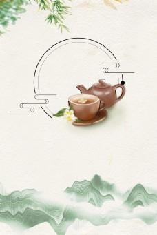 复古中国风茶道背景