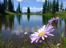 山顶上的小湖