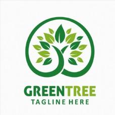 绿叶树 元素标志