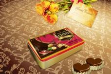 巧克力 食品 包装盒 巧克力