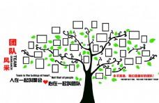 矢量树形照片墙