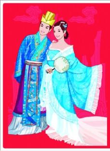 手绘古典新婚