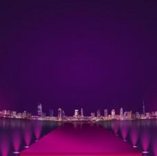 城市夜景背景