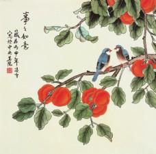 新中式花鸟 工笔花鸟 新中式