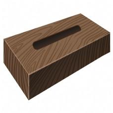 棕色木质抽纸巾包装