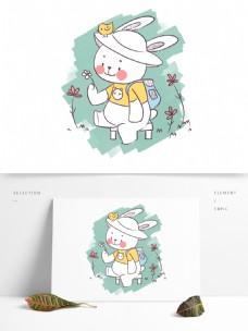 简笔画卡通可爱动物兔子
