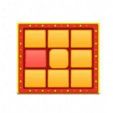 红色抽奖系统免抠图