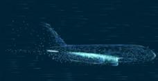 粒子飞机飞行科技背景