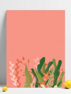 清晰唯美粉色系花卉背景