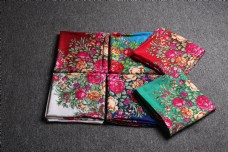 春秋多彩棉麻围巾方巾24