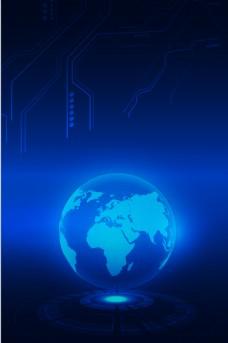 蓝色大气科技地球背景