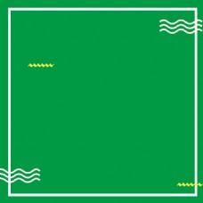 绿色几何宝宝裙PSD分层主图背景素材