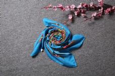 春秋多彩棉麻围巾方巾15