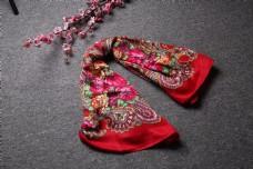 春秋多彩棉麻围巾方巾22
