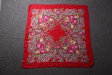 春秋多彩棉麻围巾方巾10