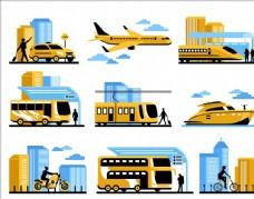 卡通交通工具