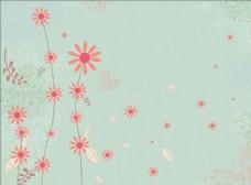 手绘叶子花纹
