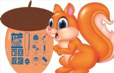 垃圾分类 卡通松鼠