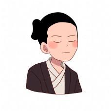日本和服男人插画