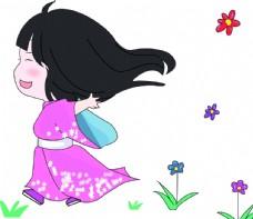 卡通小女孩