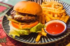 美食美味汉堡薯条静物摄影