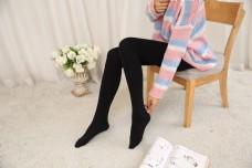 韩版女士黑色连裤袜12