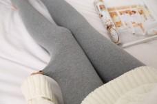 韩版女士灰色打底袜裤15