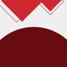 简约几何红色服装PSD分层主图背景素材