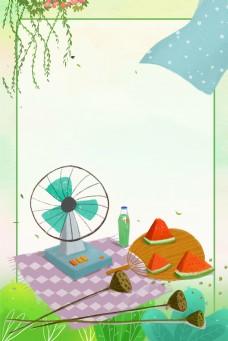 夏日西瓜背景图片