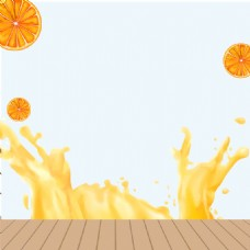 飞溅果汁破壁机PSD分层主图背景素材