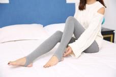 韩版女士灰色打底袜裤27