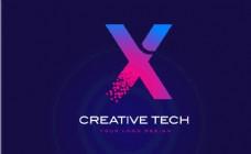 科技感英文LOGO字母X
