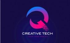 科技感英文LOGO字母Q