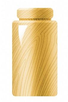 木质容器卡通插画