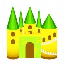 美丽的建筑城堡插画