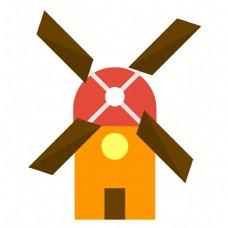粉色的建筑城堡插画