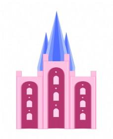 教堂建筑城堡插画