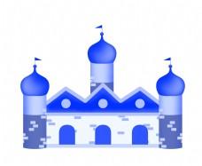 异域的建筑城堡插画
