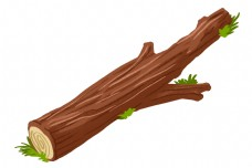 木质木头卡通插画